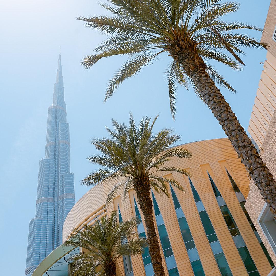 Eten en slapen in Dubai