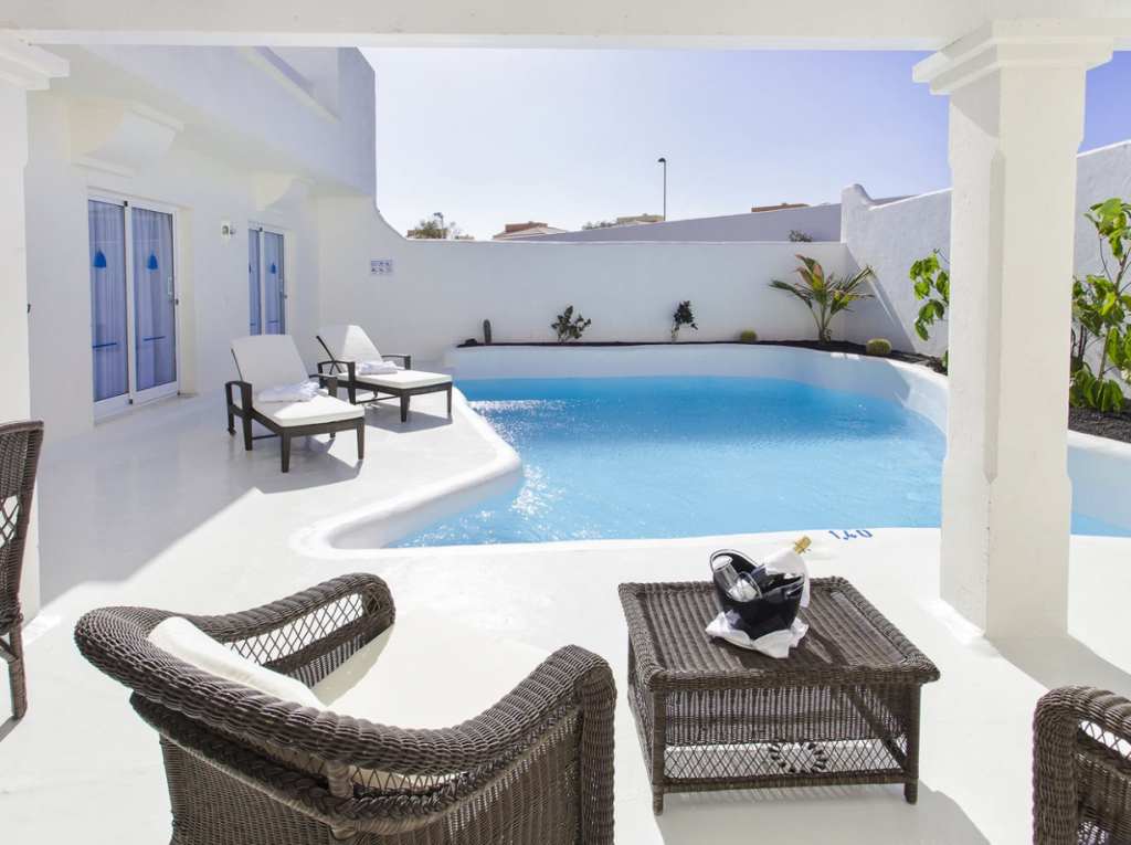 Swim up kamer in Spanje in het Bahiazul Villas & Club Fuerteventura